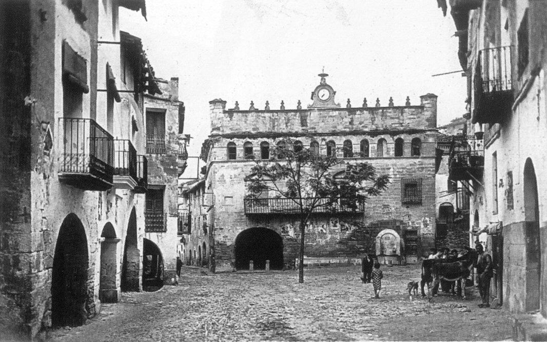 Antigua plaza de la república en 1935